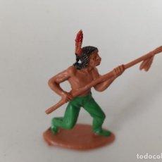 Figuras de Goma y PVC: FIGURA INDIO PECH HNOS. Lote 263957320