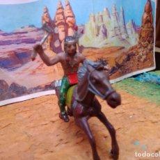 Figuras de Goma y PVC: INDIO Y CABALLO DE COMANSI. Lote 264042060