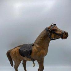 Figuras de Goma y PVC: ANTIGUO CABALLO DE PASTA. VER FOTOS/ LEER MEDIDAS. Lote 264175976