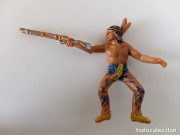 FIGURA INDIO JECSAN AÑOS 60 (Juguetes - Figuras de Goma y Pvc - Jecsan)