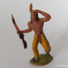 Figuras de Goma y PVC: FIGURA INDIO JECSAN AÑOS 60. Lote 264253500
