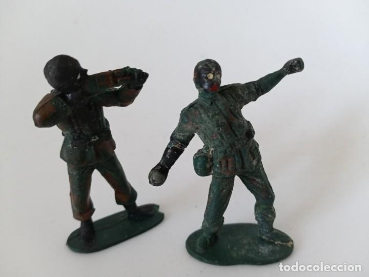 FIGURAS SOLDADOS AÑOS 50 GOMA (Juguetes - Figuras de Goma y Pvc - Jecsan)