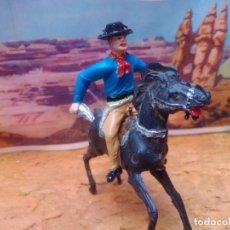 Figuras de Goma y PVC: VAQUERO Y CABALLO DE COMANSI. Lote 264358039