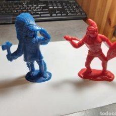 Figuras de Goma y PVC: 2 INDIOS TIPO COMANSI GRANDES, 12 CM.. Lote 264714234