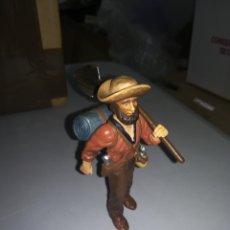 Figuras de Goma y PVC: SCHLEICH MINERO BUSCADOR DE ORO FIGURA DE PVC SERIE OESTE AMERICANO INDIOS Y VAQUEROS. Lote 264799024