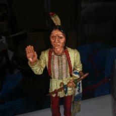 Figuras de Goma y PVC: JEFE INDIO TORO SENTADO FIGURA DE PVC AÑOS 90 MADE IN SPAIN COMANSI LEYENDAS WILD WEST INDIOS. Lote 264812189