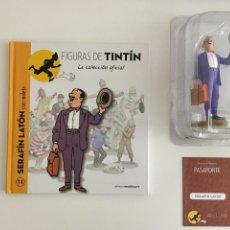 Figurines en Caoutchouc et PVC: TINTIN FIGURA LIBRO PASAPORTE - SERAFIN LATON - 11. Lote 264844579