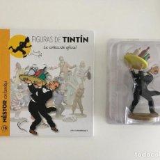 Figurines en Caoutchouc et PVC: TINTIN FIGURA LIBRO - NÉSTOR - 18. Lote 264845594