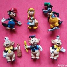 Figuras de Borracha e PVC: COMICS SPAIN. SERIE LOS TRES CERDITOS CAPERUCITA ROJA. LOTE DE 6 FIGURAS. Lote 264854864