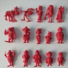 Figuras de Goma y PVC: DUNKIN COLECCION LUCKY LUKE DE LOS RASCAS A FALTA DE 4 PARA COMPLETAR. Lote 265132689