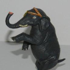 Figuras de Goma y PVC: ELEFANTE DEL CIRCO. REALIZADO POR JECSAN. AÑOS 50 EN GOMA. SERIE CIRCO. PINTURA ORIGINAL. Lote 265146314