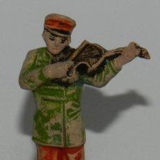 Figuras de Goma y PVC: FIGURA DE MUSICO, SERIE CIRCO. REALIZADO POR JECSAN. AÑOS 50 EN GOMA.. Lote 265148684