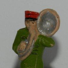 Figuras de Goma y PVC: FIGURA DE MUSICO, SERIE CIRCO. REALIZADO POR JECSAN. AÑOS 50 EN GOMA.. Lote 265148814