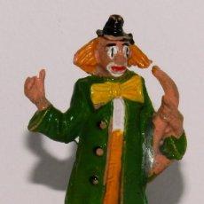 Figuras de Goma y PVC: FIGURA DE GOMA DE PAYASO CON SAXO, CLOWN DEL CIRCO DE JECSAN, AÑOS 50.. Lote 265151984