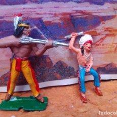 Figuras de Goma y PVC: DOS INDIOS DE COMANSI. Lote 265195994