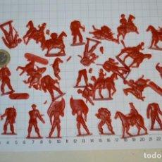 Figuras de Goma y PVC: LOTE SOLDADOS PLANOS - DE 4 CENTÍMETROS / ANTIGUOS - PLÁSTICO / PVC - ¡MIRA, MUY RAROS! - LOTE 01. Lote 265216569