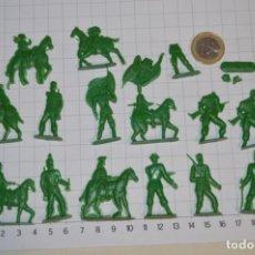 Figuras de Goma y PVC: LOTE SOLDADOS PLANOS - DE 4 CENTÍMETROS / ANTIGUOS - PLÁSTICO / PVC - ¡MIRA, MUY RAROS! - LOTE 03. Lote 265222824