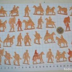 Figuras de Goma y PVC: LOTE SOLDADOS PLANOS - DE 4 CENTÍMETROS / ANTIGUOS - PLÁSTICO / PVC - ¡MIRA, MUY RAROS! - LOTE 04. Lote 265320669