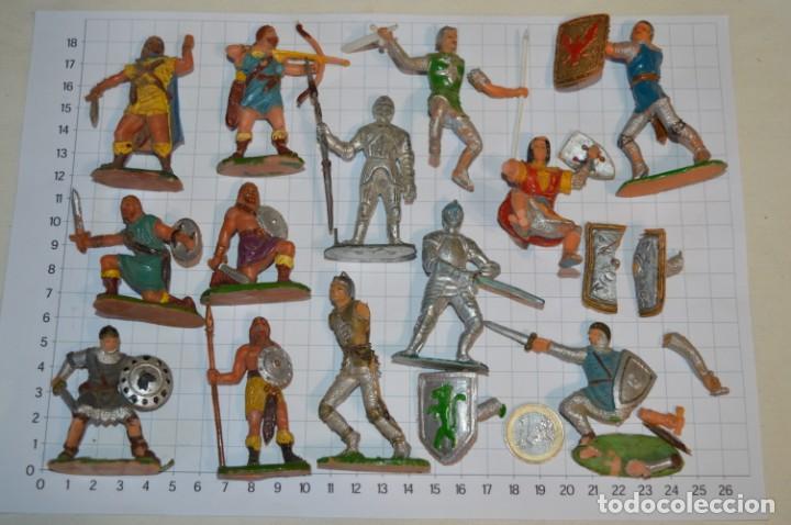 Figuras de Goma y PVC: Lote CAPITÁN TRUENO, VIKINGOS y OTROS / Antiguos - Plástico / PVC - ¡Mira, muy, muy difíciles! - Foto 2 - 265334849