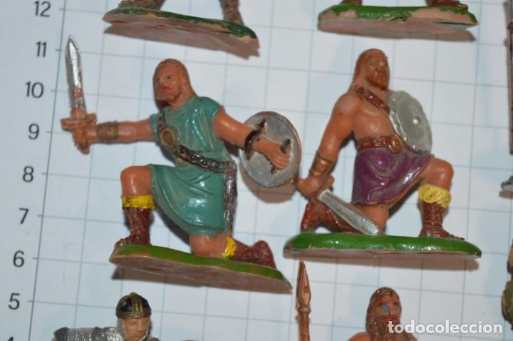 Figuras de Goma y PVC: Lote CAPITÁN TRUENO, VIKINGOS y OTROS / Antiguos - Plástico / PVC - ¡Mira, muy, muy difíciles! - Foto 5 - 265334849