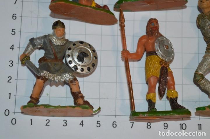 Figuras de Goma y PVC: Lote CAPITÁN TRUENO, VIKINGOS y OTROS / Antiguos - Plástico / PVC - ¡Mira, muy, muy difíciles! - Foto 6 - 265334849