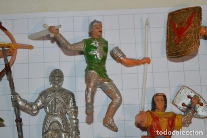 Figuras de Goma y PVC: Lote CAPITÁN TRUENO, VIKINGOS y OTROS / Antiguos - Plástico / PVC - ¡Mira, muy, muy difíciles! - Foto 12 - 265334849