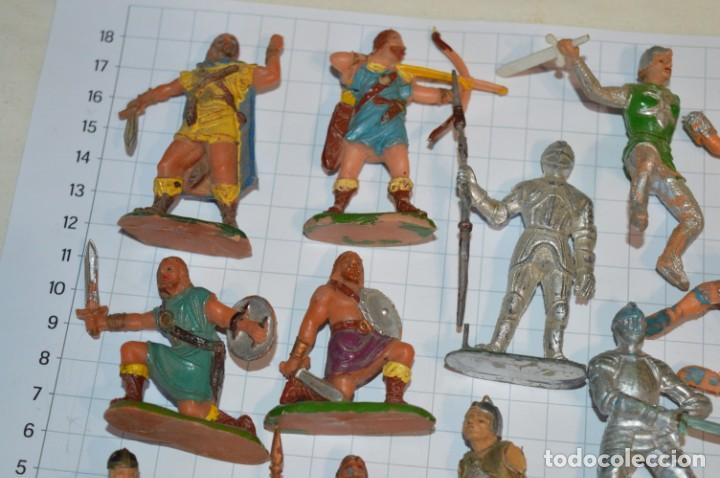Figuras de Goma y PVC: Lote CAPITÁN TRUENO, VIKINGOS y OTROS / Antiguos - Plástico / PVC - ¡Mira, muy, muy difíciles! - Foto 3 - 265334849