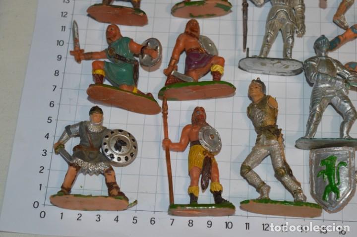 Figuras de Goma y PVC: Lote CAPITÁN TRUENO, VIKINGOS y OTROS / Antiguos - Plástico / PVC - ¡Mira, muy, muy difíciles! - Foto 11 - 265334849