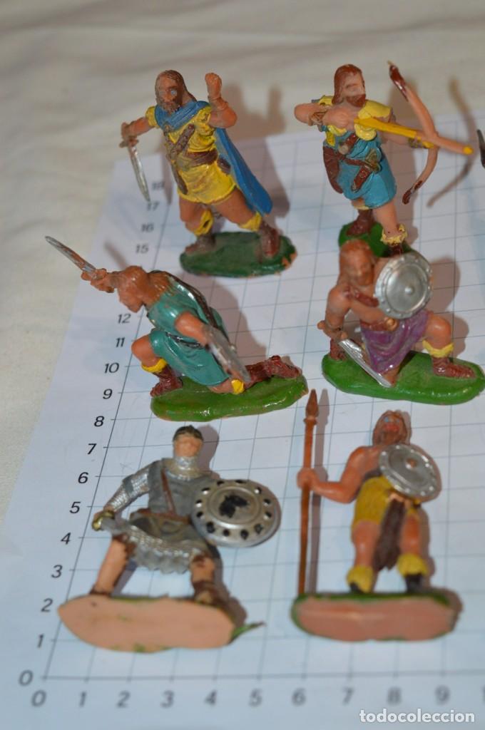 Figuras de Goma y PVC: Lote CAPITÁN TRUENO, VIKINGOS y OTROS / Antiguos - Plástico / PVC - ¡Mira, muy, muy difíciles! - Foto 10 - 265334849