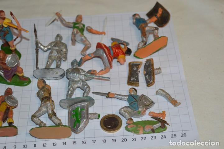 Figuras de Goma y PVC: Lote CAPITÁN TRUENO, VIKINGOS y OTROS / Antiguos - Plástico / PVC - ¡Mira, muy, muy difíciles! - Foto 23 - 265334849