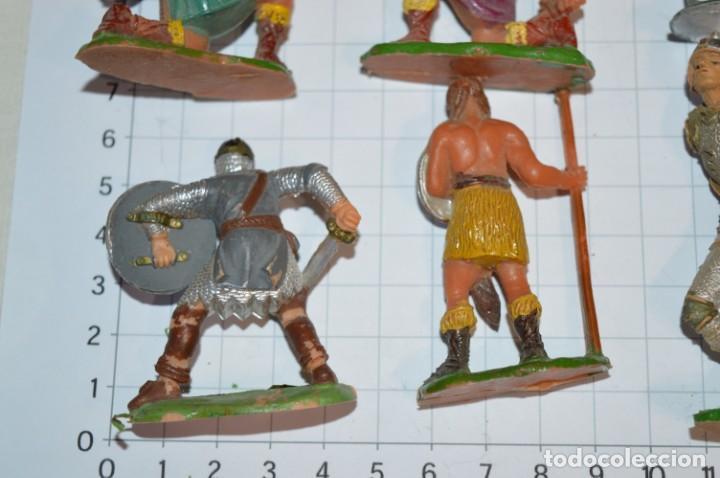 Figuras de Goma y PVC: Lote CAPITÁN TRUENO, VIKINGOS y OTROS / Antiguos - Plástico / PVC - ¡Mira, muy, muy difíciles! - Foto 9 - 265334849