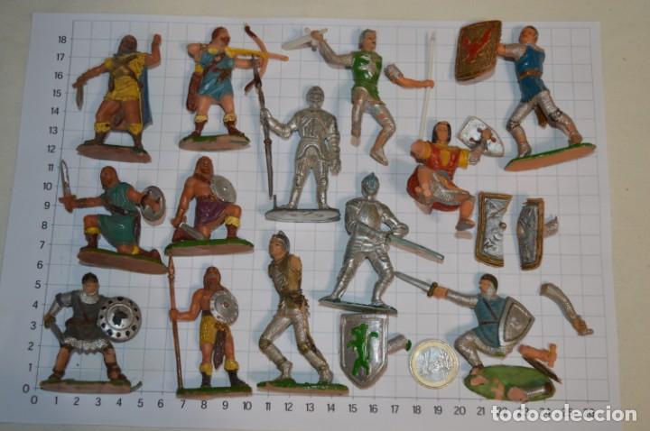 LOTE CAPITÁN TRUENO, VIKINGOS Y OTROS / ANTIGUOS - PLÁSTICO / PVC - ¡MIRA, MUY, MUY DIFÍCILES! (Juguetes - Figuras de Goma y Pvc - Estereoplast)