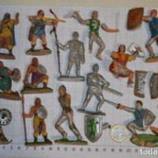 Figuras de Goma y PVC: LOTE CAPITÁN TRUENO, VIKINGOS Y OTROS / ANTIGUOS - PLÁSTICO / PVC - ¡MIRA, MUY, MUY DIFÍCILES!. Lote 265334849