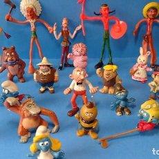 Figuras de Borracha e PVC: LOTE BATIBURRILLO 24 FIGURAS COMICS SPAIN EURA PEYO COMANSI BULLY Y OTRAS. Lote 265471849