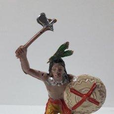 Figuras de Goma y PVC: GUERRERO INDIO . REALIZADO POR COMANSI . ORIGINAL AÑOS 60 - PRIMERA EPOCA. Lote 265748099