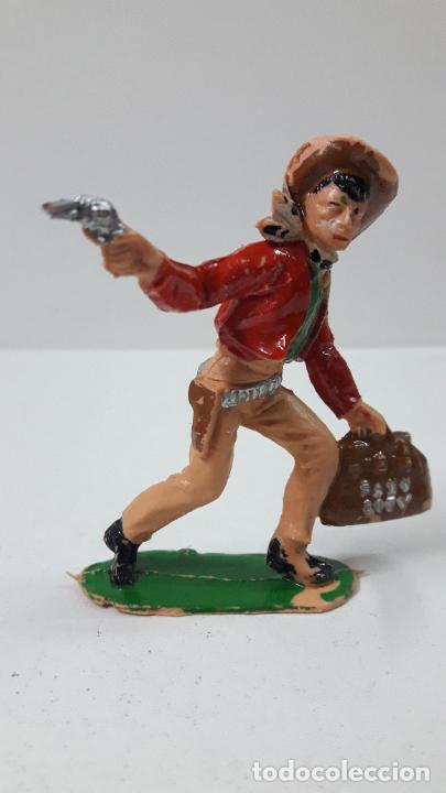 Figuras de Goma y PVC: VAQUERO - COWBOY ATRACADOR . REALIZADO POR COMANSI . ORIGINAL AÑOS 60 - PRIMERA EPOCA - Foto 2 - 265748934