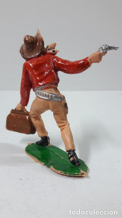 Figuras de Goma y PVC: VAQUERO - COWBOY ATRACADOR . REALIZADO POR COMANSI . ORIGINAL AÑOS 60 - PRIMERA EPOCA - Foto 3 - 265748934