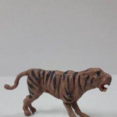 Figuras de Goma y PVC: TIGRE . REALIZADO POR GAMA . SERIE PLANA . ORIGINAL AÑOS 50 EN GOMA. Lote 265751429
