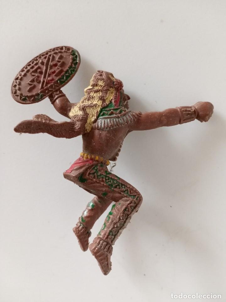 FIGURA GRANDE DE LAFREDO INDIO AÑOS 60 (Juguetes - Figuras de Goma y Pvc - Lafredo)