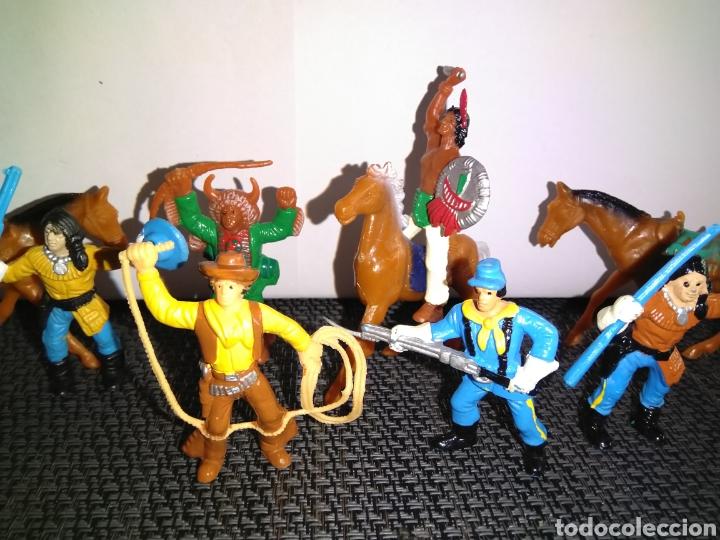 Figuras de Goma y PVC: ANTIGUAS FIGURAS INDIOS VAQUEROS SOLDADOS NORDISTAS Y CABALLOS DE COMANSI - Foto 6 - 265962323