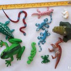 Figuras de Goma y PVC: COLECCION DE FIGURAS DE ANIMALES DE GOMA. Lote 266328898