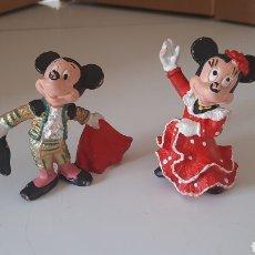 Figuras de Borracha e PVC: MICKEY MOUSE TORERO Y MINIE MOUSE SEVILLANA DE BULLYLAND. Lote 266409838