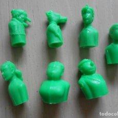 Figuras de Goma y PVC: LOTE 7 FIGURAS VERDES DE LA FAMILIA ULISES MONTAPLEX PREMIUM FIGURES FIGURA COMIC TEBEO. Lote 287800328