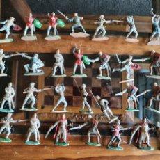 Figuras de Borracha e PVC: SOLDADOS MEDIEVALES PRÍNCIPE VALIENTE REAMSA PECH LAFREDO JECSAN. Lote 267087439