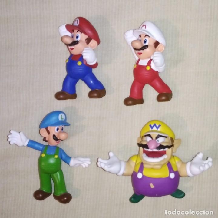 LOTE DE 4 FIGURAS MUÑECOS DE PVC DE MARIO BROS - JAKKS NINTENDO 2007 - LUIGI WARIO (Juguetes - Figuras de Goma y Pvc - Otras)