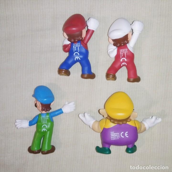 Figuras de Goma y PVC: LOTE DE 4 FIGURAS MUÑECOS DE PVC DE MARIO BROS - JAKKS NINTENDO 2007 - LUIGI WARIO - Foto 2 - 267128494