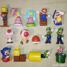 Figuras de Goma y PVC: GRAN LOTE DE 14 MUÑECOS FIGURAS SUPER MARIO BROS NINTENDO MCDONALD'S HAPPY MEAL MCDONALDS. Lote 267131504