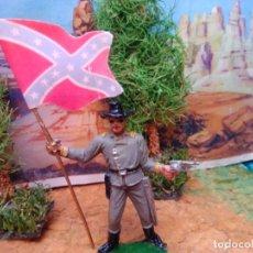 Figuras de Goma y PVC: SOLDADO CONFEDERADO CON BANDERA DE JECSAN. Lote 267266219