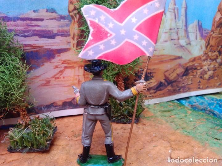 Figuras de Goma y PVC: Soldado confederado con bandera de jecsan - Foto 2 - 267266219