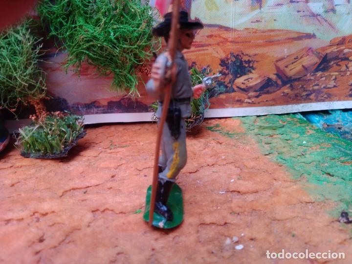Figuras de Goma y PVC: Soldado confederado con bandera de jecsan - Foto 3 - 267266219
